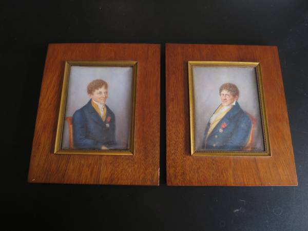 Two portrait miniatures of a gentleman with distinction
